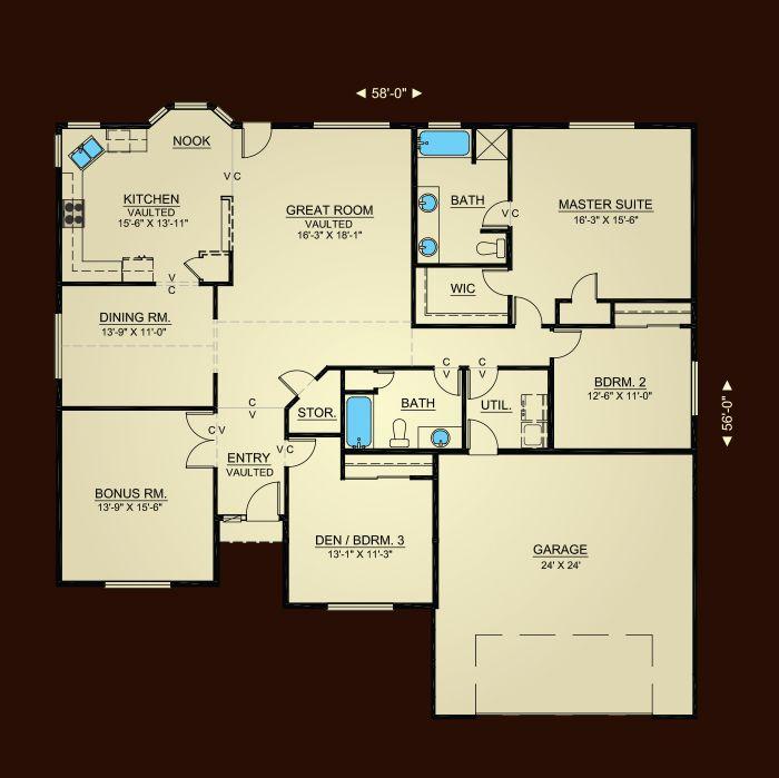 Properties Plan 2152 Hiline Homes Floor Plans House Design Floor Plans Home