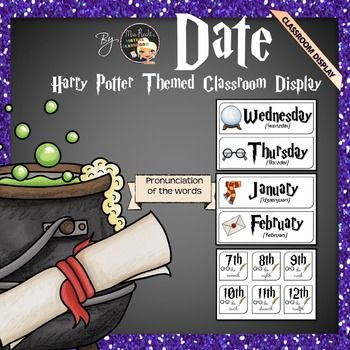 Harry Potter Themed Classroom Display - Date Bundle
