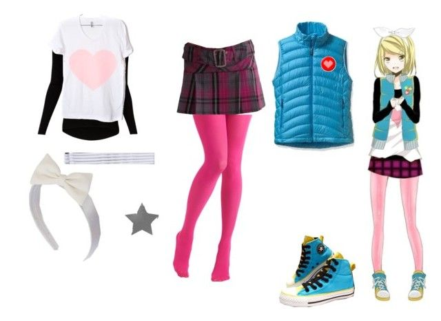 rin kagamine by mayleneholm on Polyvore featuring Witchery, Patagonia, CO, American Apparel, ULTA and Paris Hilton