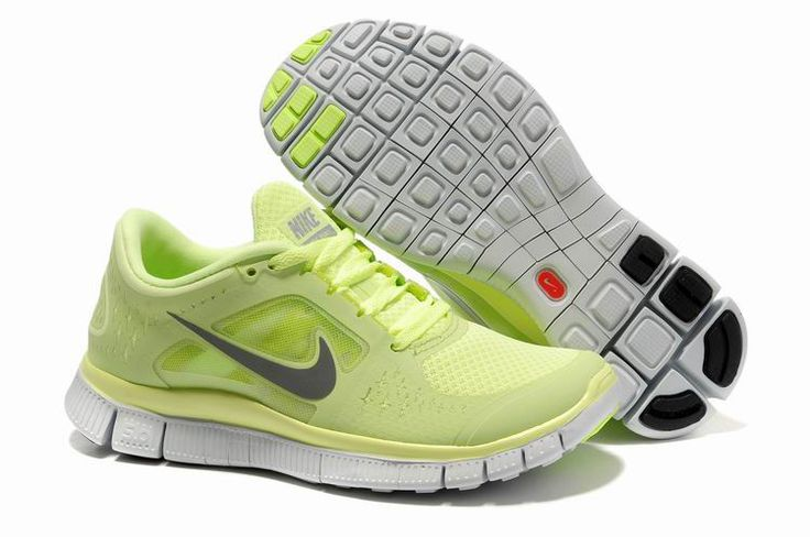 Damer Light Fluorescent Grøn Nike Free 5.0 V3 Sko 14025