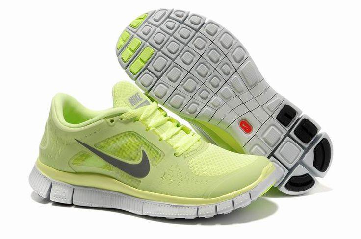 Damer Light Fluorescent Grøn Nike Free 5.0 V3 Sko 14025