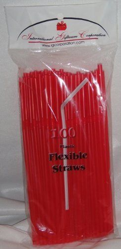 Straws - Flex/Flexible Drinking Straws - Luau - Wedding - Party - Red - 100 Flexible Straws by IGC. $9.95. This product is manufactured by: Int'l Giftware Corp. and carries the following tests: - SGS test report for food contact in compliance with FDA - US CPSC Regulation - Lead Element Test - Proposition 65 (California). SOLD EXCLUSIVELY THROUGH THE MANUFACTURER.. If you are not buying from Int'l Giftware Corp. directly, you are not receiving the product specified here. * Com...