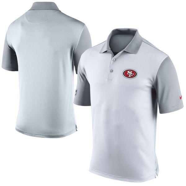 San Francisco 49ers Nike Preseason Performance Polo - White - $69.99