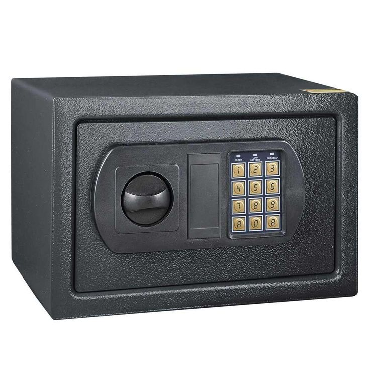 Letter Size Document Security Home Office Safe Box Gray