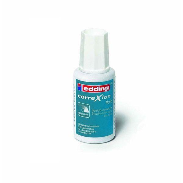ΔΙΟΡΘΩΤΙΚΟ ΥΓΡΟ EDDING CORREXION 20ml. Διορθωτικό Υγρό Edding Correxion Fluid με βουρτσάκι που αφήνει λεία και τέλεια επιφάνεια. Έχει 20ml διορθωτικό Υγρό και είναι ταχυστέγνωτο (Quick Dry) για να μπορείτε να ξαναγράψετε σχεδόν αμέσως.