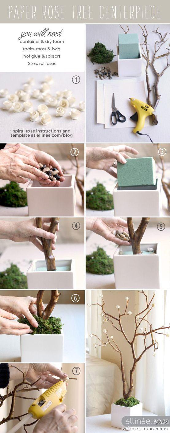 Tree center piece DIY
