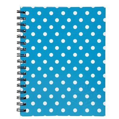 SPIRAX 511 NOTEBOOK HARD COVER A5 225 X 175MM SPOT BLUE 200 PAGE