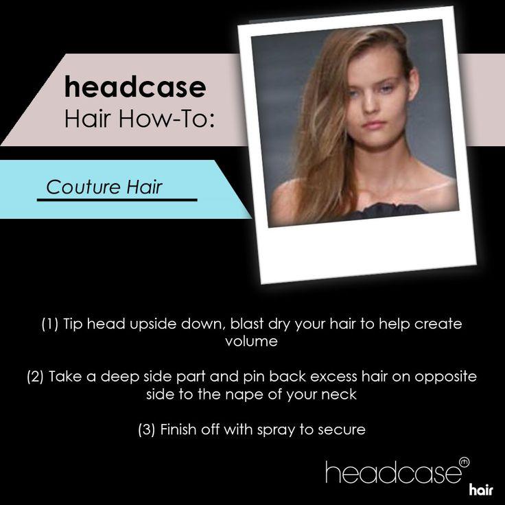How to create couture-worthy hair. #hairhowto #runwayready #hairtutorial