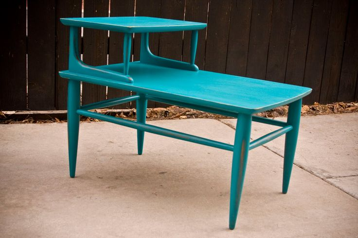 Retro Turquoise End Table/Nightstand