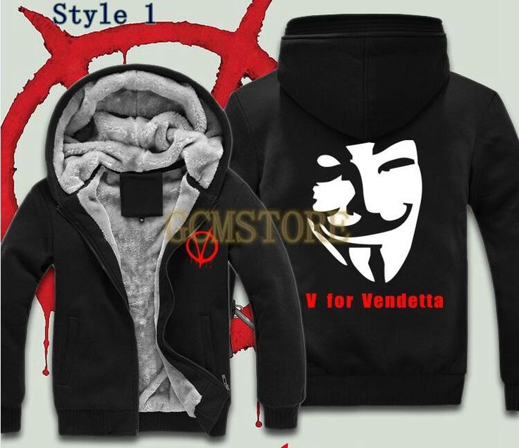 Men's Anime V for Vendetta Costume Masks Velvet Sweatshirts With Hat For Winter #men #women #young #boys #girls #guy #lol #hoodies #sweatshirts #dress #tshirt #pants #vest #love #fashion #style #stylish #shopping #cool #cute #amazing #fun #funny #beautiful #beauty #follow #followme #shoutout #likes #comment