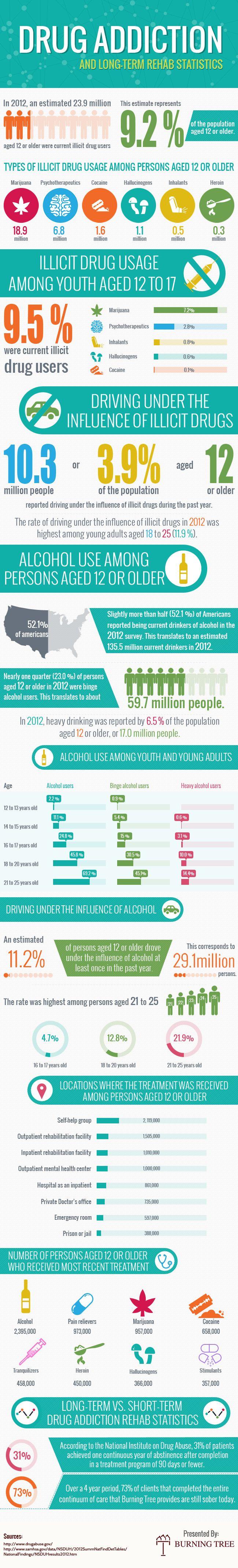 Drug Addiction and Long Term Rehab Statistics - Infographics ...
