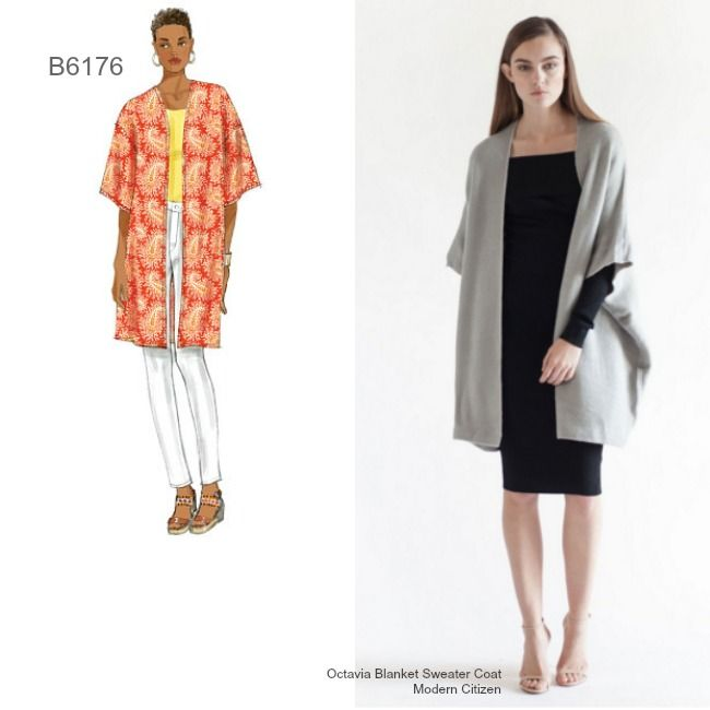 Sew the Look: Make a sweater coat with Butterick B6176 ...