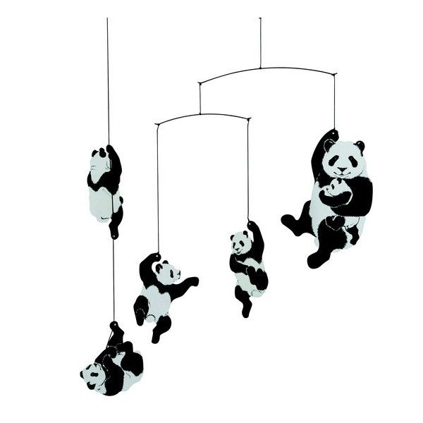 mobile d coratif b b panda flensted mobiles pinterest felt pandas and deco. Black Bedroom Furniture Sets. Home Design Ideas