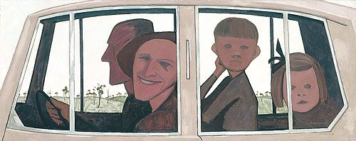 'The Car' by John Brack, 1955. NGV collection.