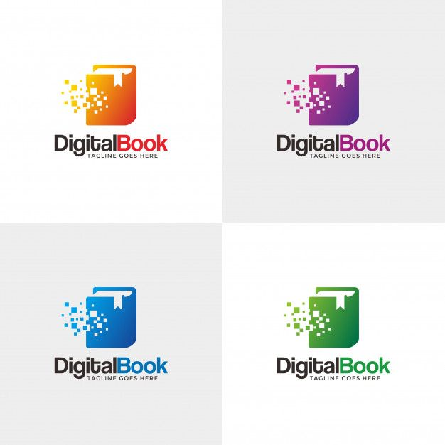 Digital Book Modern Logo Design Template For Your Company
