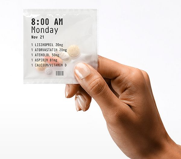A Design-Focused Pharmacy That Makes Taking Medication Less Confusing #packaging #sachet #health