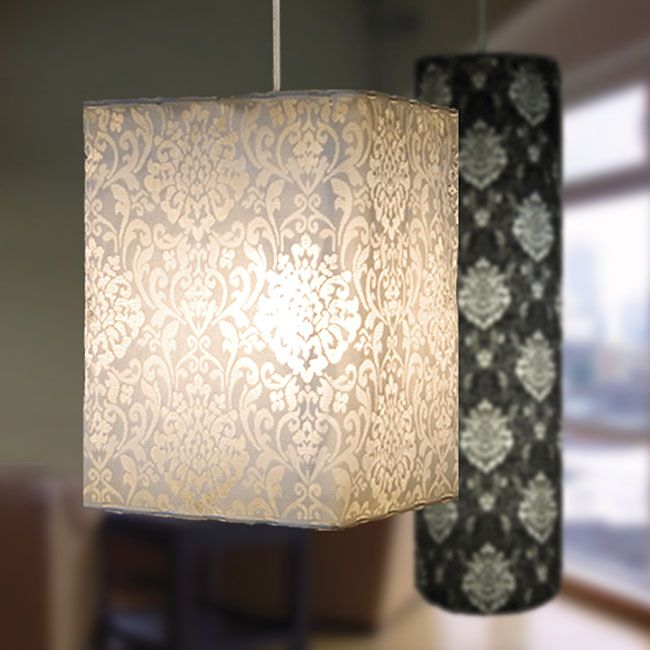 Diy lace lampshade would cast such pretty shadows