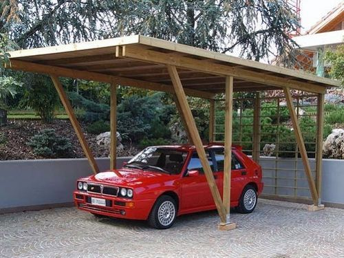 Wooden carport 095030 legnolandia car port pinterest for 4 car carport plans