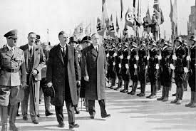 Munich Agreement 1938 Chamberlain of Great Britain