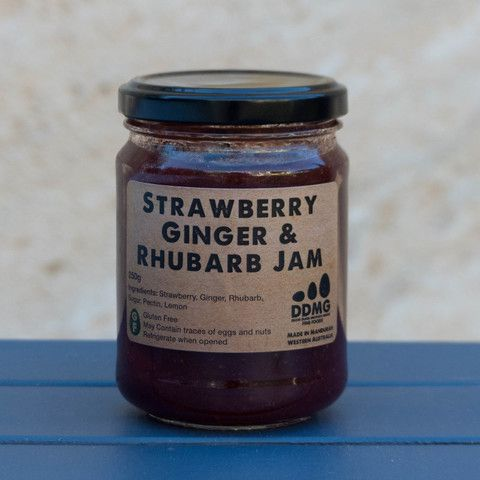 Strawberry, Ginger & Rhubarb Jam
