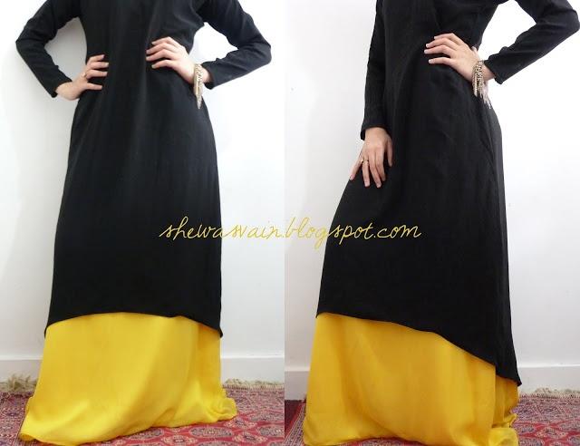 shewasvain: D.I.Y back dip hem style abaya