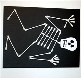 I think even my non-crafty boys would enjoy this craft - no drawing or coloring, and it's a great looking skeleton!