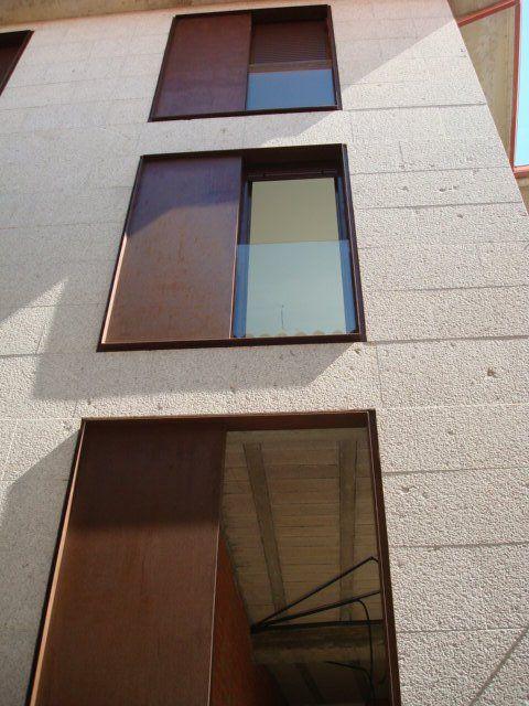ventanas de acero corten