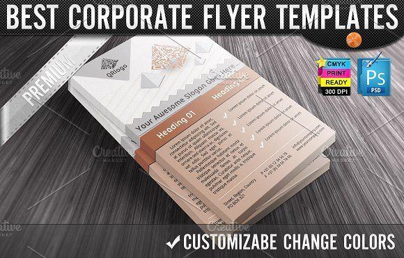QR Codes 3D Pyramids Business Flyers by joyologo on @creativemarket