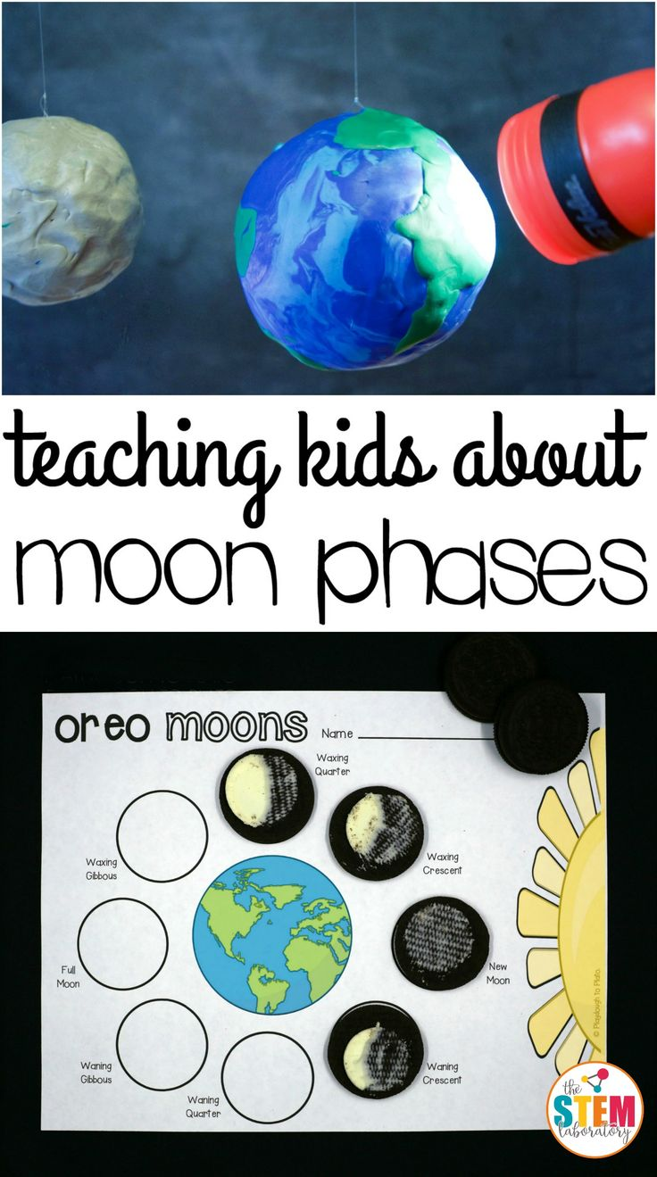 My little astronomers love observing the night sky! After they asked how the moon shrunk and grew, I knew it was the perfect time to teach them about the moon's phases with this oh-so-yummy Oreo spaceactivity. Who knew science could be so tasty?! Getting Ready To prep the activity, I needed: 1 medium ball (baseball sized) 1 globe orlarger sized ball a flashlight or a