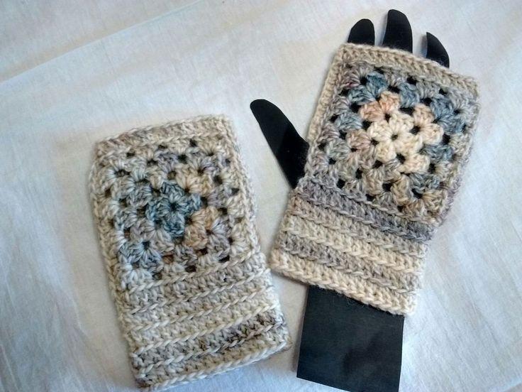 Guanti senza dita, scaldapolsi in lana, by Amo a Mano, 10,00 € su misshobby.com