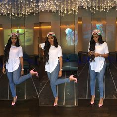 Angela Simmons rocking a girly swag on her instagram