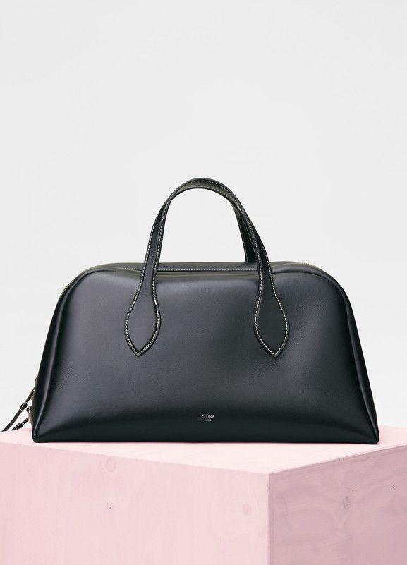 Medium Bowling Bag in Natural Calfskin - Céline