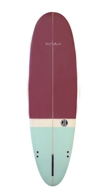 Watershed - Surfboards - Mini Mals - Gul Retro Egg 'Squat' 6'10 Maroon/Blue (Sanded Finish)