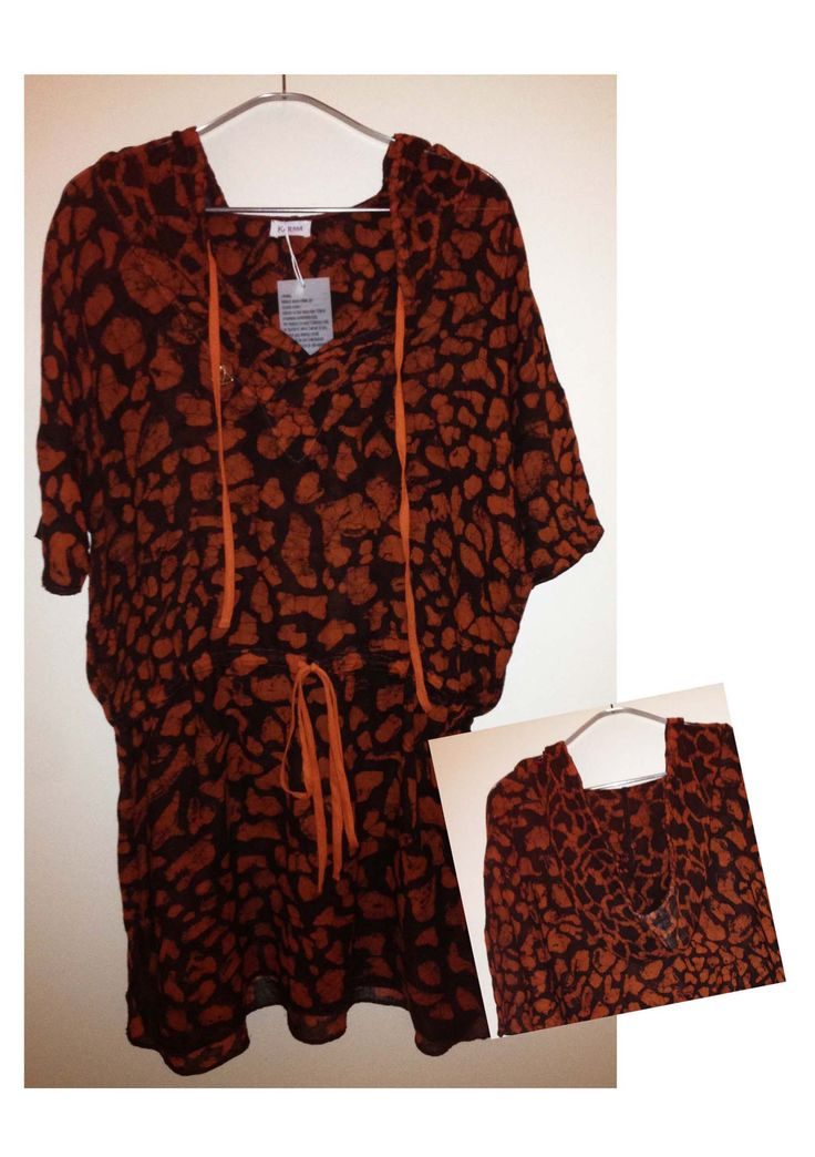 Hooded Animal Print Dress
