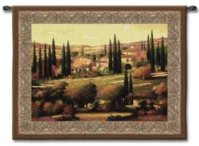 italy tuscan fields italian landscape art tapestry wall hanging ebay