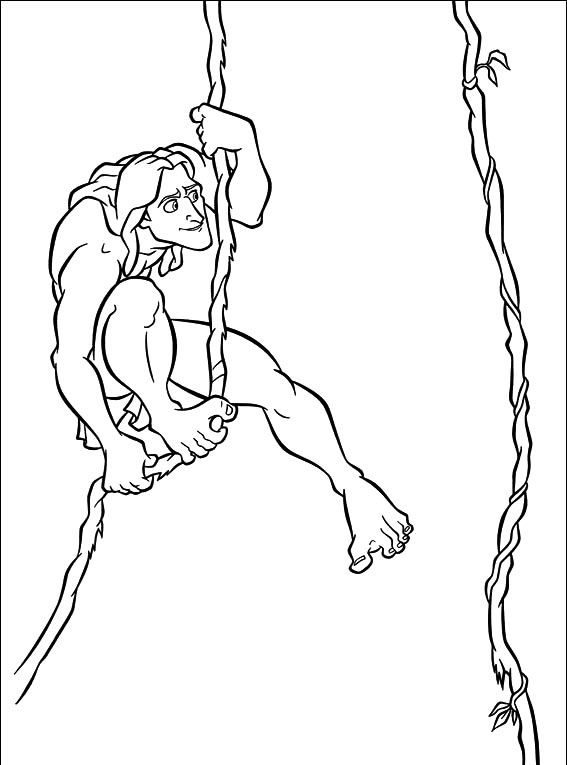 8 Best Tarzan Disney Coloring Pages Images On Pinterest