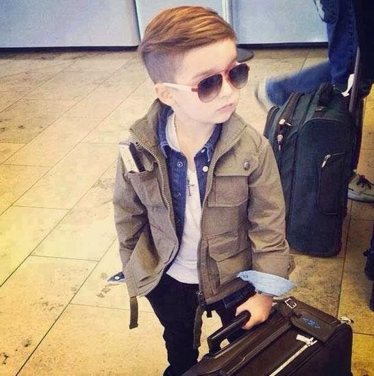Cute baby winter outfit with adorable jacket | Fashion World What! Look at this little boy rock this hair and style!! Go mom!!!