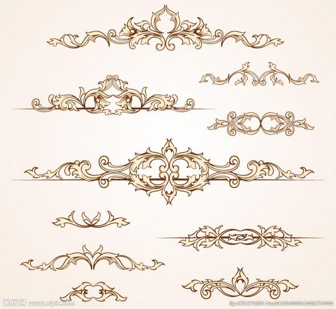 유럽 복고풍 패턴 디자인