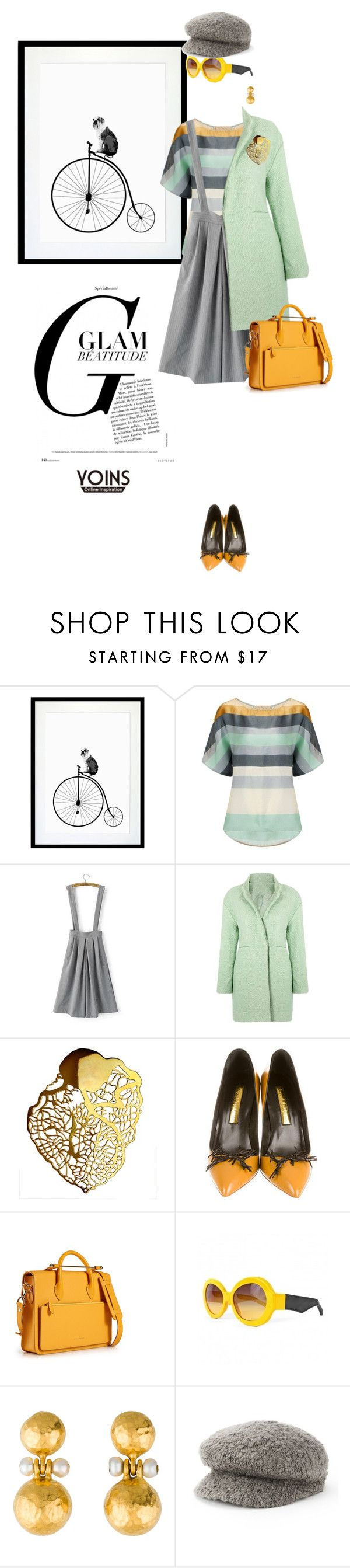"""""""pastel pretty with yoins"""" by pensivepeacock ❤ liked on Polyvore featuring Eleanor Stuart, Eina Ahluwalia, Rupert Sanderson, Sonoma life + style and MustHave"""
