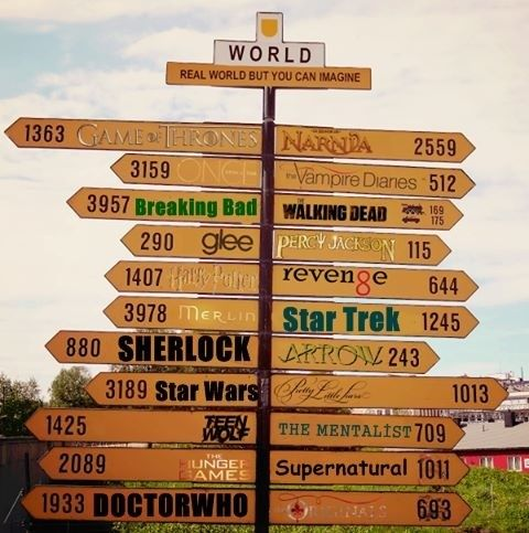 Where shall I go first?- Game of Thrones, OUAT, Chronicles of Narnia, Sherlock, Breaking Bad, Doctor Who, Supernatural, Star Wars, Star Trek, glee, Harry Potter, Merlin, Teen Wolf, The Hunger Games, The Mentalist, Pretty Little Liars, Arrow, Revenge, Percy Jackson, The Vampire Diaries
