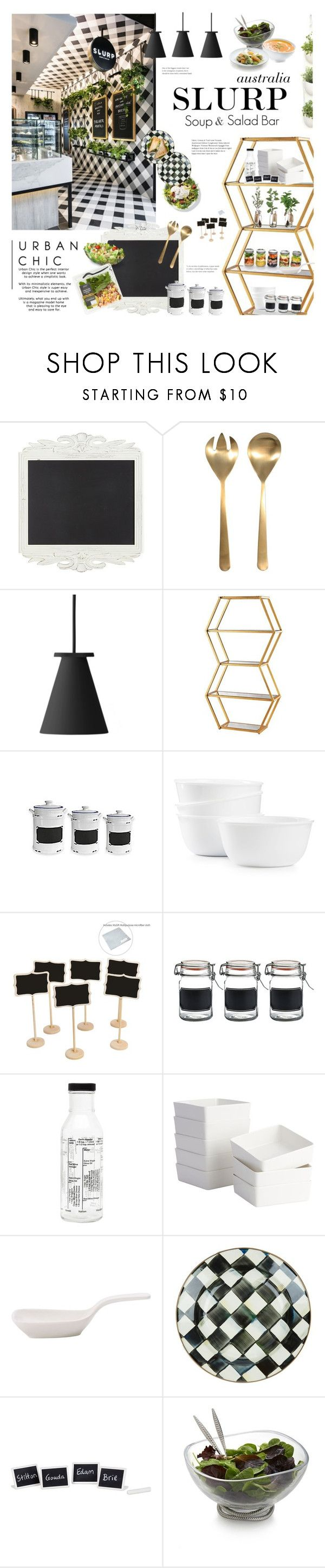 """Australian Soup & Salad Bar"" by happilyjynxed ❤ liked on Polyvore featuring interior, interiors, interior design, home, home decor, interior decorating, Pier 1 Imports, Menu, Vanguard and American Atelier"