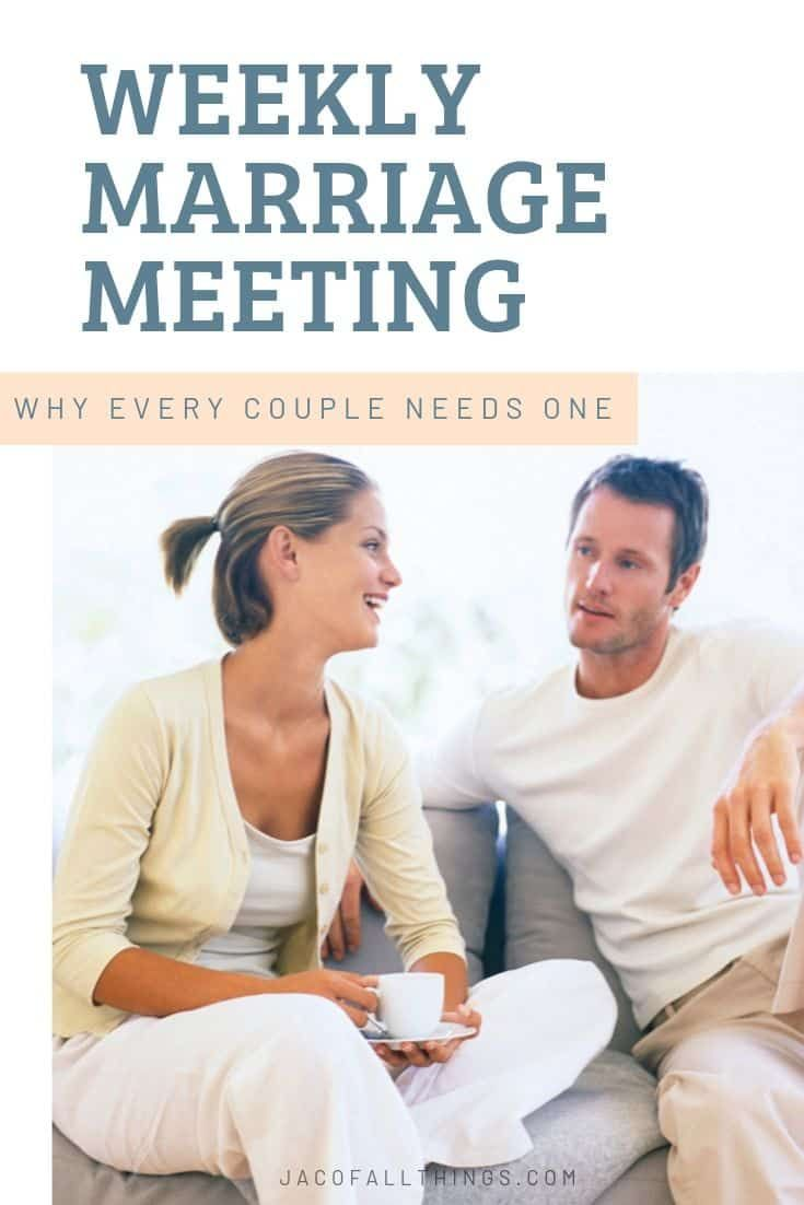 Why A Weekly Marriage Meeting Is Critical For Every Married Couple Marriage Meeting Marriage Marriage Advice Christian