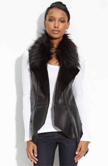 faux fur fo me!: Nordstrom Faux Fur, Bagatel Vest, Leather Vest Hello, Fur Vests, Lady Leather Vest, Fur Faux, Faux Fur Vest, Fur Vest Hello, Fur Trim
