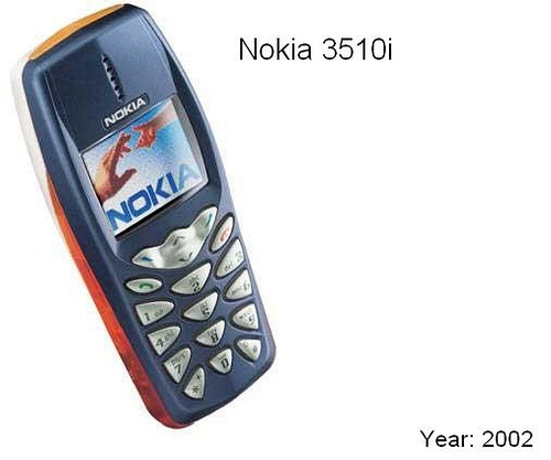 Nokia 3510i. Now this was a first. Polyphonic ringtones and a colour screen. I think I got this around 2003. Even though it boasted a colour screen, it was a far cry from what we are used to today.