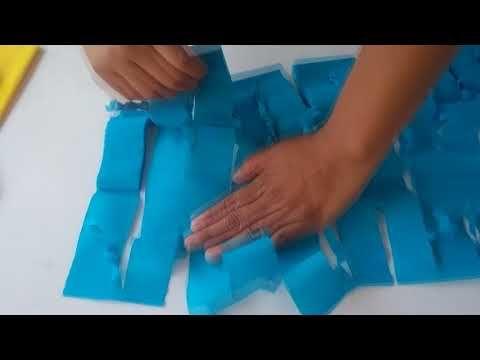 Cortina de papel crepe facilita - YouTube