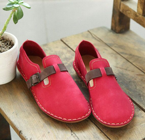SALE Handmade Women's Leather Shoes Flat Shoes Leather от HerHis