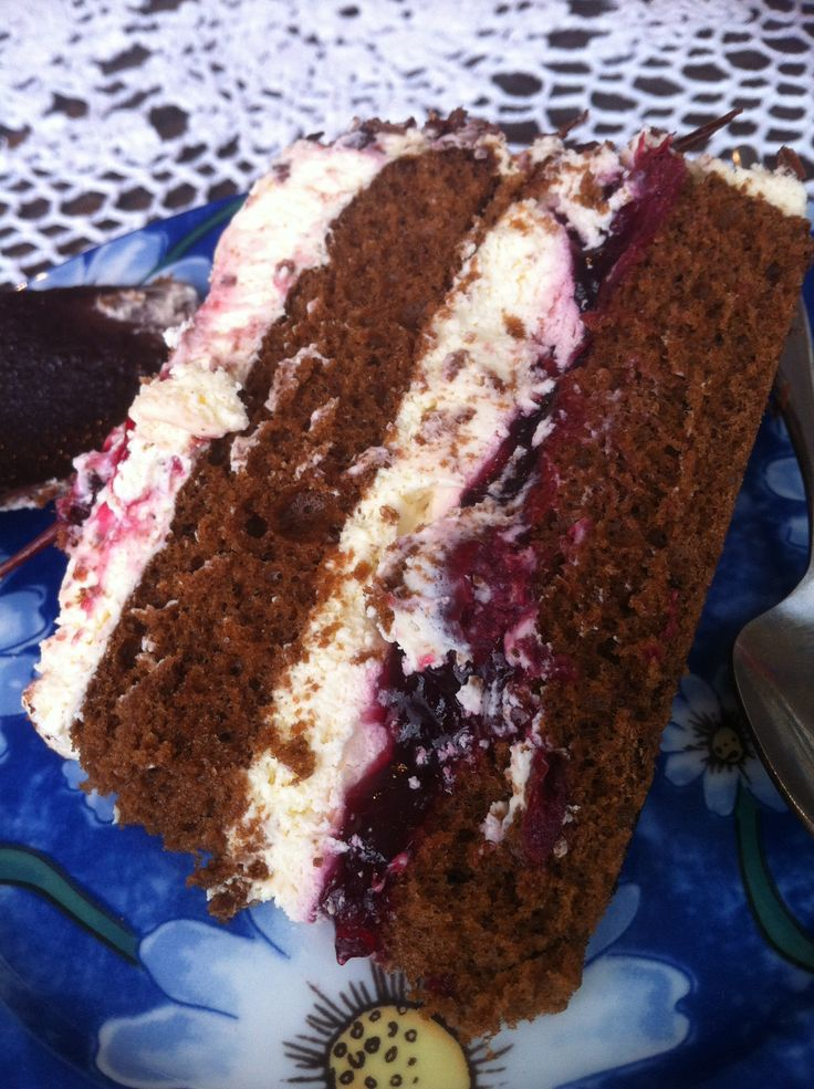 A slice of Egon's Black Forest Cake.