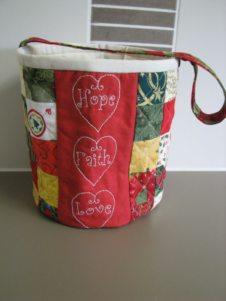 Fabric Christmas Basket