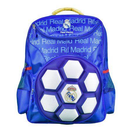 Real Madrid Backpack - Raised Ball, White