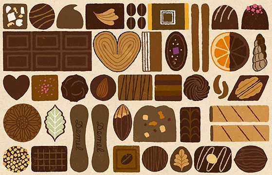 Chie Katayama illustration. #illustration #draw #art #chocolate #pattern #イラスト #イラストレーション